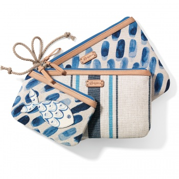 Blue Water Triple Pouch Set