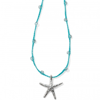 Blue Water Crochet Petite Starfish Necklace