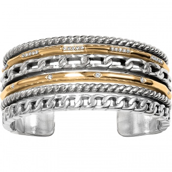 Neptune's Rings Double Hinged Bangle