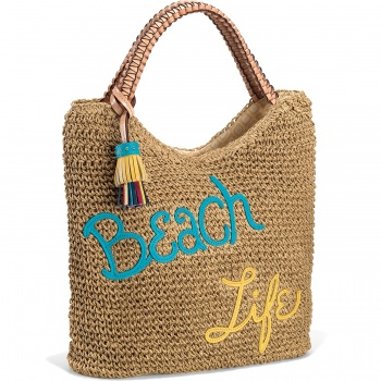 Beach Life Straw Tote