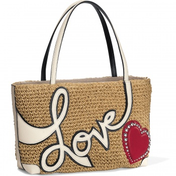 Love Story Straw Tote