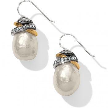Neptune's Rings Pearl French Wire Earrings