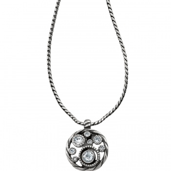 Halo Badge Clip Necklace