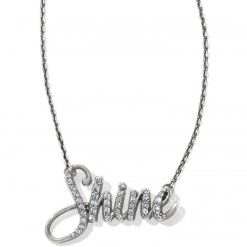 Shine Script Necklace