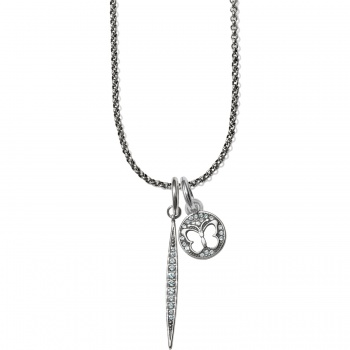 Contempo Ice Wings Short Amulet Necklace Set