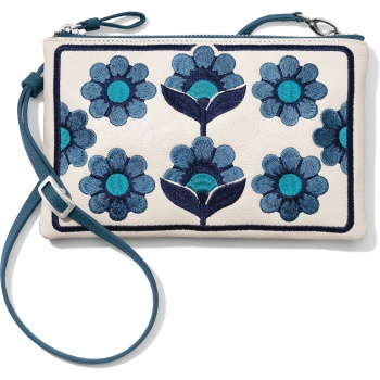 Blueprint Embroidered Crossbody Pouch
