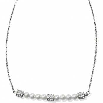 Meridian Petite Pearl Bar Necklace