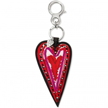 Fashionista Scribble Heart Handbag Fob
