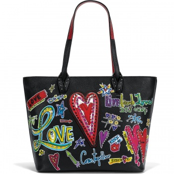 Fashionista Love Scribble Tote