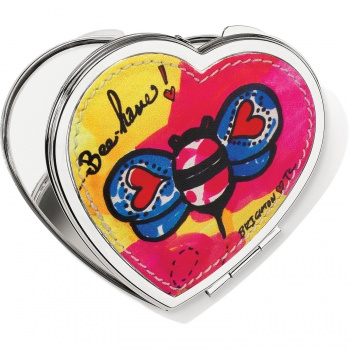 Love Groove Heart Compact Mirror