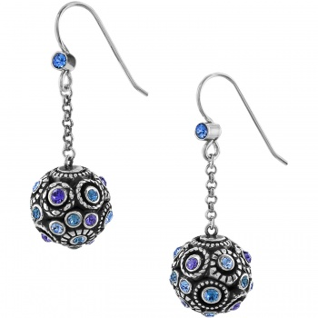 Halo Sphere French Wire Earrings
