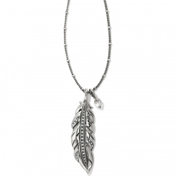 Contempo Contempo Ice Feather Convertible Reversible Necklace