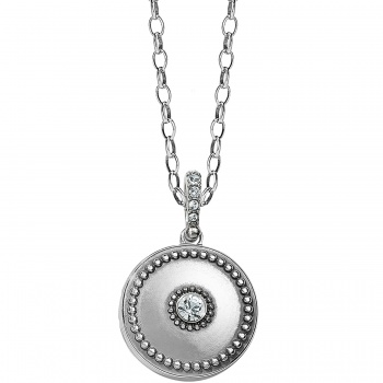Twinkle Small Round Locket Necklace