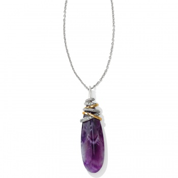 Neptune's Rings Pyramid Amethyst Necklace