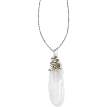 Neptune's Rings Pyramid Crystal Necklace