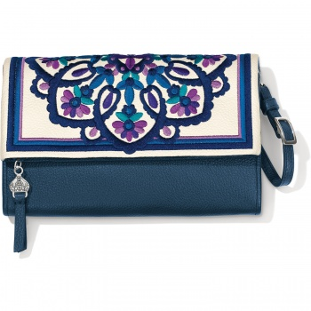 Casablanca Jewel Embroidered Flap Organizer