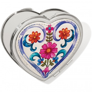 Casablanca Jewel Heart Compact Mirror