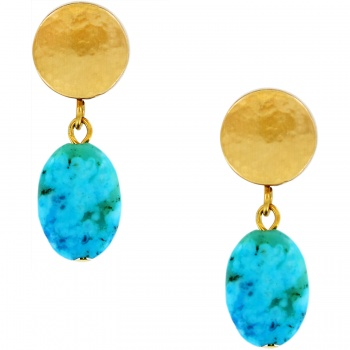Mediterranean Turquoise Petite Post Drop Earrings