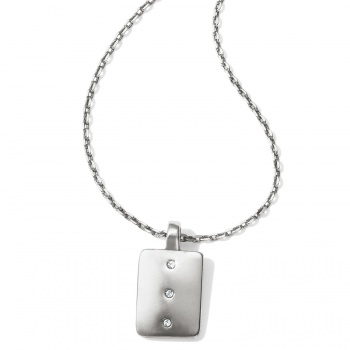 Contempo Contempo Ice Reversible Petite Tile Necklace