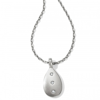 Contempo Contempo Ice Reversible Petite Teardrop Necklace