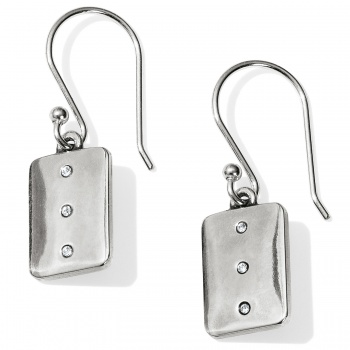 Contempo Ice Reversible Tile French Wire Earrings