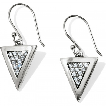 Contempo Ice Reversible Triangle French Wire Earrings