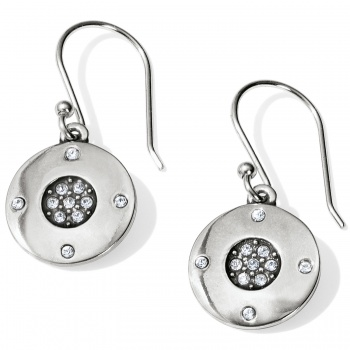 Contempo Contempo Ice Reversible Round French Wire Earrings