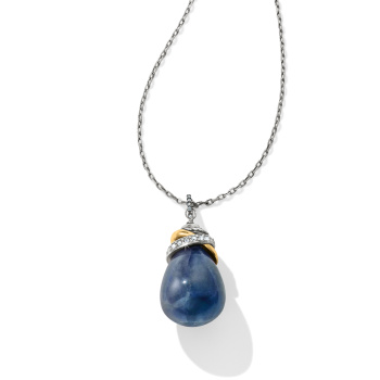 Neptune's Rings Brazil Blue Quartz Pendant Necklace