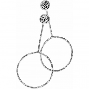 Mingle Circle Drop Post Earrings
