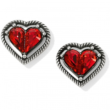 One Love Petite Heart Post Earrings