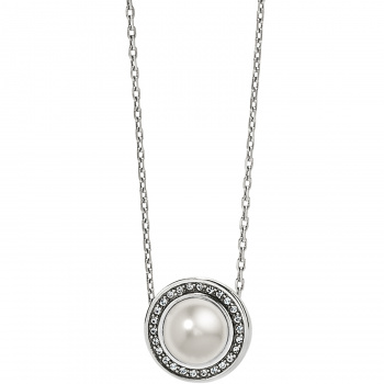Chara Chara Ellipse Pearl Short Necklace