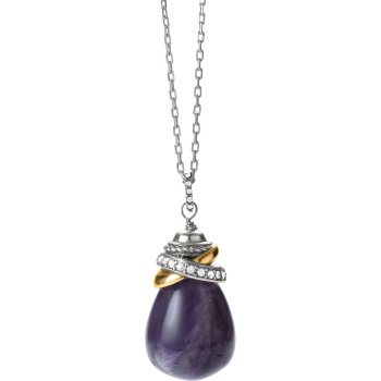 Neptune's Rings Amethyst Pendant Necklace