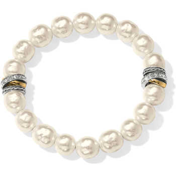 Neptune's Rings Pearl Stretch Bracelet