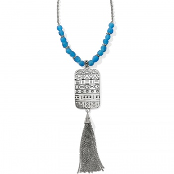 Africa Stories Etched Beaded Necklace