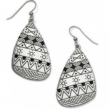 Africa Stories Etched French Wire Earrings