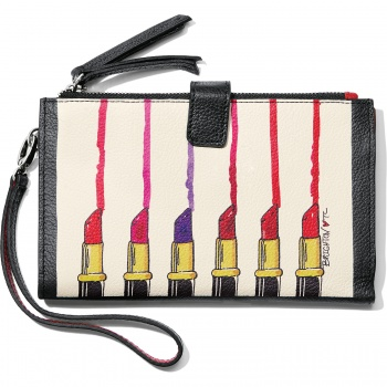 Fashionista Hot Lips Double Zip Wallet