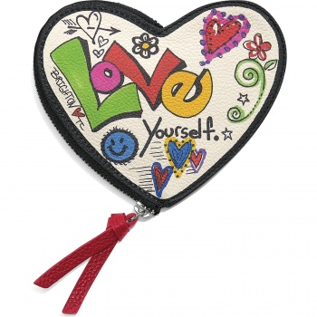 Love Scribble Heart Coin Purse