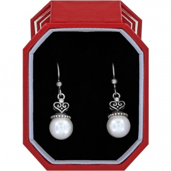 Alcazar Pearl Drop French Wire Earrings Gift Box