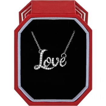 Love Script Necklace Gift Box