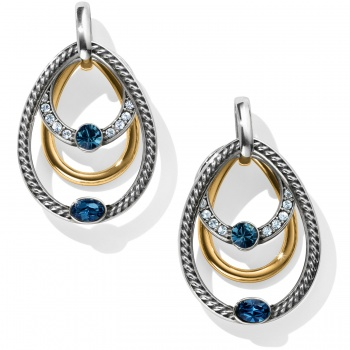 Neptune's Rings Gem Post Drop Earrings
