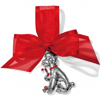 Candy Cane Dog Christmas Ornament