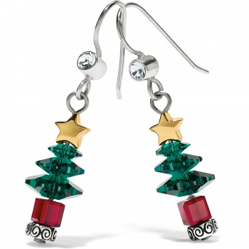 Tinsel Town Tree French Wire Earrings