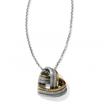 Neptune's Rings Woven Heart Necklace