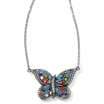Trust Your Journey Reversible Butterfly Necklace