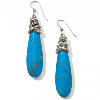 Neptune's Rings Pyramid Turquoise French Wire Earrings