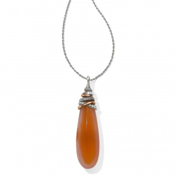 Neptune's Rings Pyramid Drop Carnelian Necklace