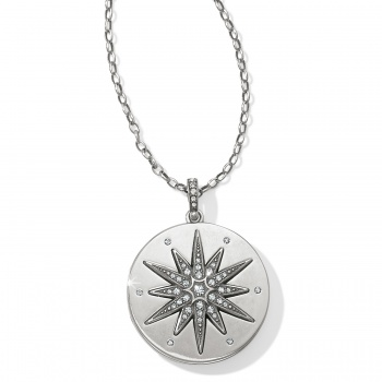 Contempo Ice Starburst Convertible Locket Necklace