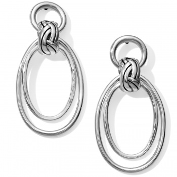 Interlok Rings Post Drop Earrings