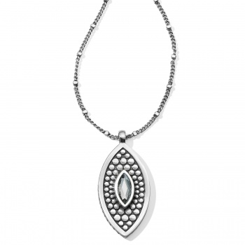 Pebble Disc Marquise Necklace