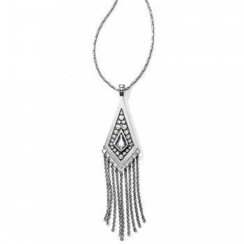 Pebble Disc Convertible Fringe Necklace